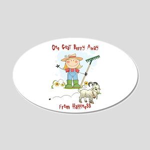 Funny Goat Berries 22x14 Oval Wall Peel