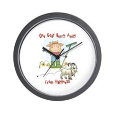 Funny Goat Berries Wall Clock