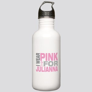 I wear pink for Julianna Stainless Water Bottle 1.
