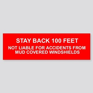 100 Feet Warning Sticker