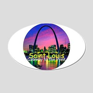 St. Louis 38.5 x 24.5 Oval Wall Peel