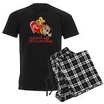 Goat Heart Men's Dark Pajamas