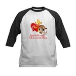 Goat Heart Kids Baseball Jersey