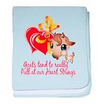 Goat Heart baby blanket