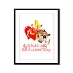Goat Heart Framed Panel Print