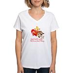 Goat Heart Women's V-Neck T-Shirt