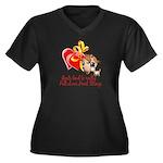 Goat Heart Women's Plus Size V-Neck Dark T-Shirt