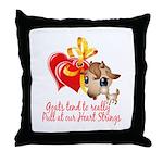 Goat Heart Throw Pillow
