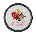 Goat Heart Large Wall Clock