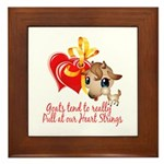 Goat Heart Framed Tile