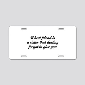 Best Friends Aluminum License Plate