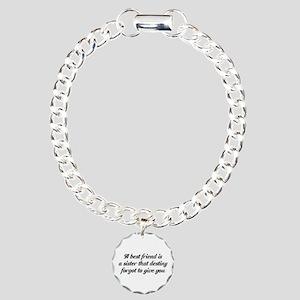 Best Friends Charm Bracelet, One Charm