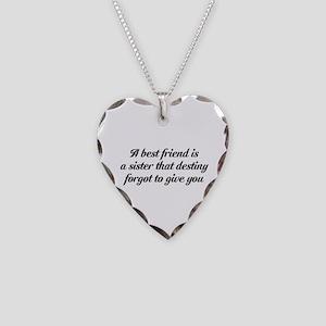 Best Friends Necklace Heart Charm