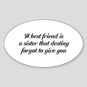 Best Friends Sticker (Oval)