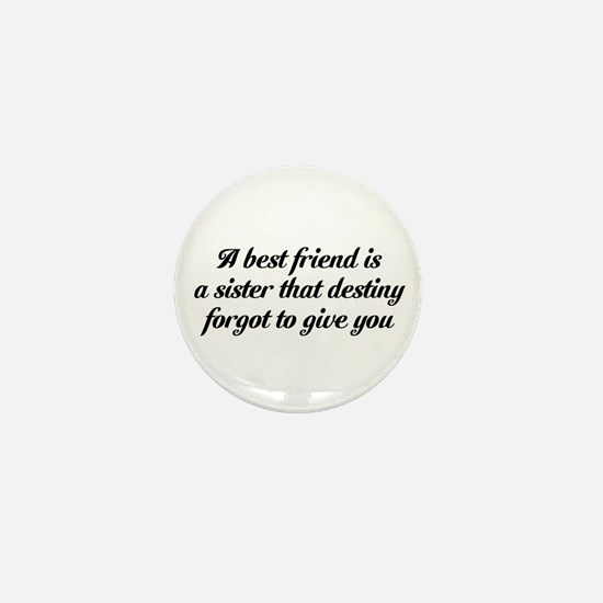Best Friends Mini Button