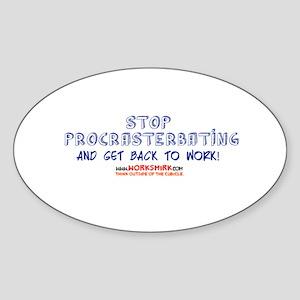 Stop Procrasterbating 02 Sticker