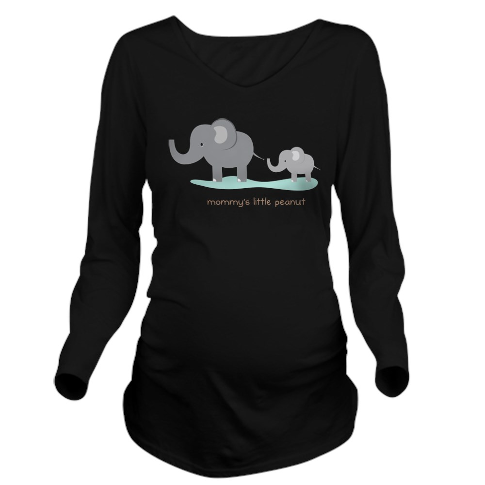 788c8a42d0737 CafePress Mommy's Little Peanut T Shirt Long Sleeve Maternity T ...