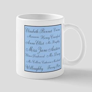 Jane Austen (Blue) Mug
