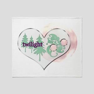 Twilight Heart Throw Blanket
