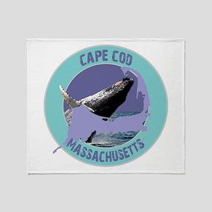 Cape Cod Whale Throw Blanket
