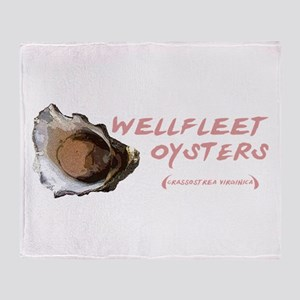 Wellfleet Oysters Throw Blanket
