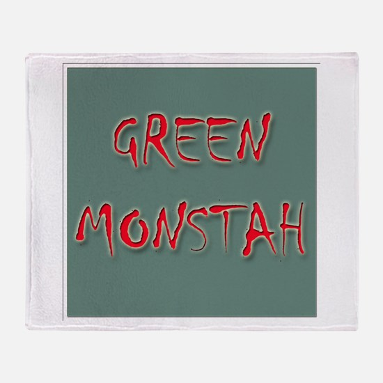 Green Monstah Throw Blanket