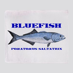 Bluefish - Potamus Saltatrix Throw Blanket