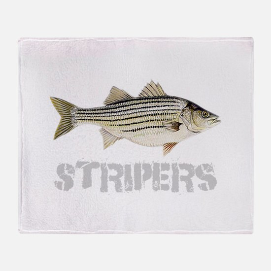 Fat Stripers Throw Blanket
