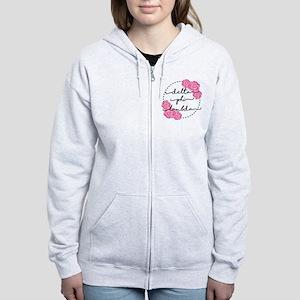 delta phi lambda floral Women's Zip Hoodie