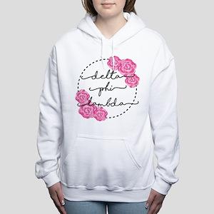 delta phi lambda floral Women's Hooded Sweatshirt