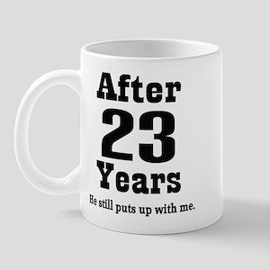 23rd Anniversary Funny Quote Mug