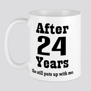 24th Anniversary Funny Quote Mug