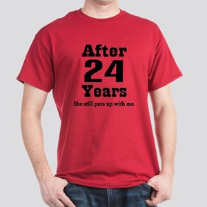 24th Anniversary Funny Quote Dark T-Shirt