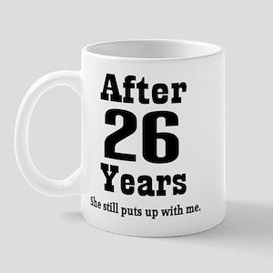 26th Anniversary Funny Quote Mug