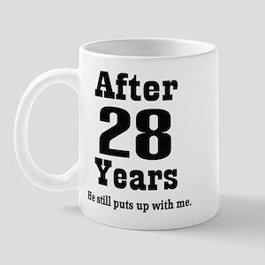 28th Anniversary Funny Quote Mug