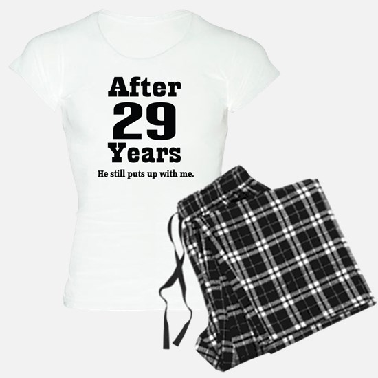 29th Anniversary Funny Quote Pajamas