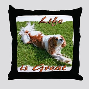 Cavalier Great Life Throw Pillow