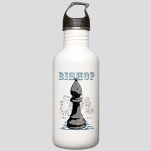 Black Bishop Chess Mate Stainless Water Bottle 1.0