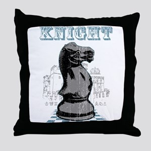Black Knight Chess Mate Throw Pillow