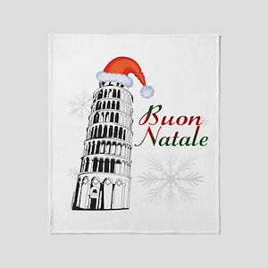 Buon Natale Pisa Throw Blanket