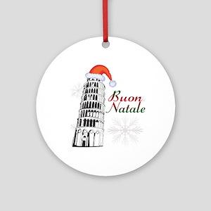 Buon Natale Pisa Ornament (Round)
