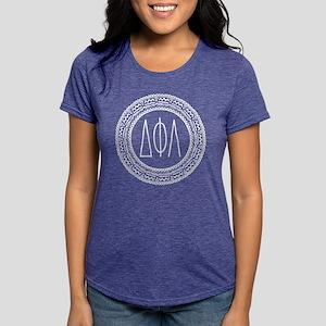 Delta Phi Lambda Medalli Womens Tri-blend T-Shirts