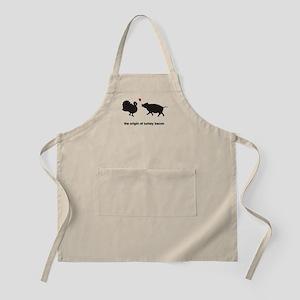 Origin of Turkey Bacon Apron