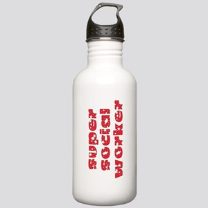 super social worker (Red) Stainless Water Bottle 1