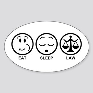 Eat Sleep Law Sticker (Oval)