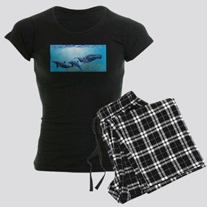 Humpback & Dolphins Women's Dark Pajamas