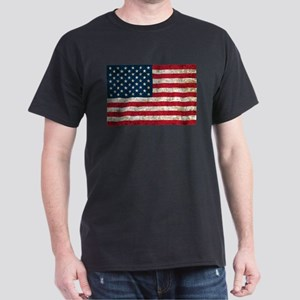 USA Flag Grunge Dark T-Shirt