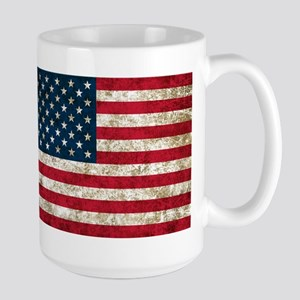 USA Flag Grunge Large Mug