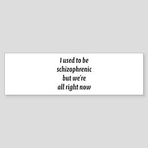 Schizophrenic Sticker (Bumper)