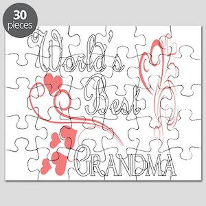 Best Grandma (Pink Hearts) Puzzle